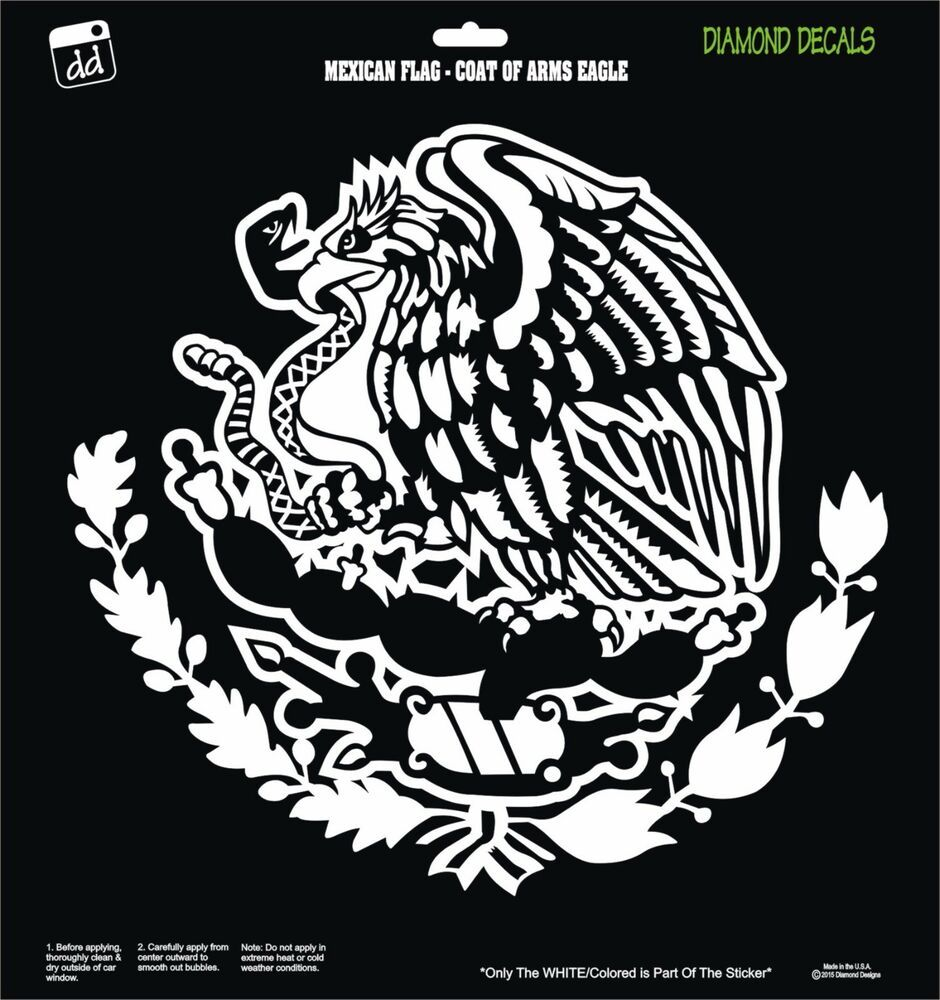 Mexican Eagle Snake Flag Coat Of Arms Design Vinyl Decal Sticker Car Window New Diamonddecalz Mexican Flag Eagle Mexican Flags Vinyl Decals