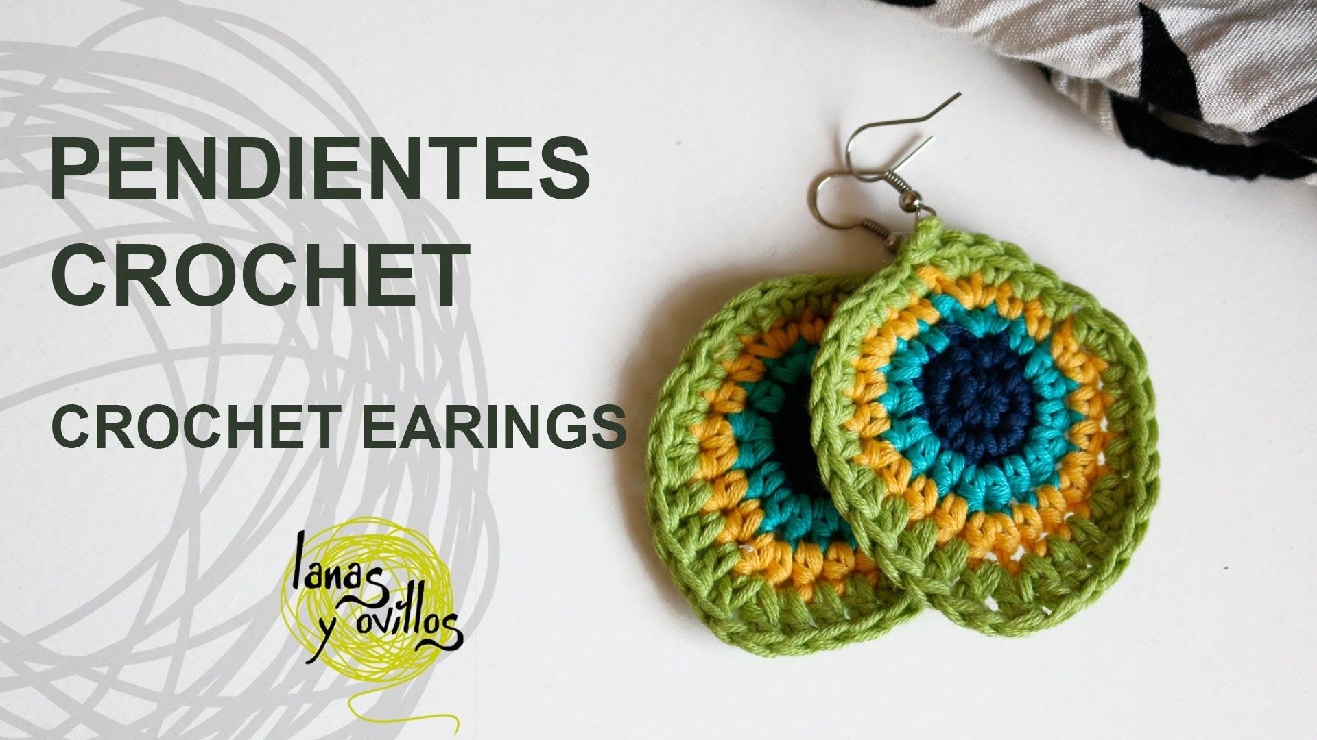 Tutorial Pendientes o Aros Crochet o Ganchillo | aros a crochet ...