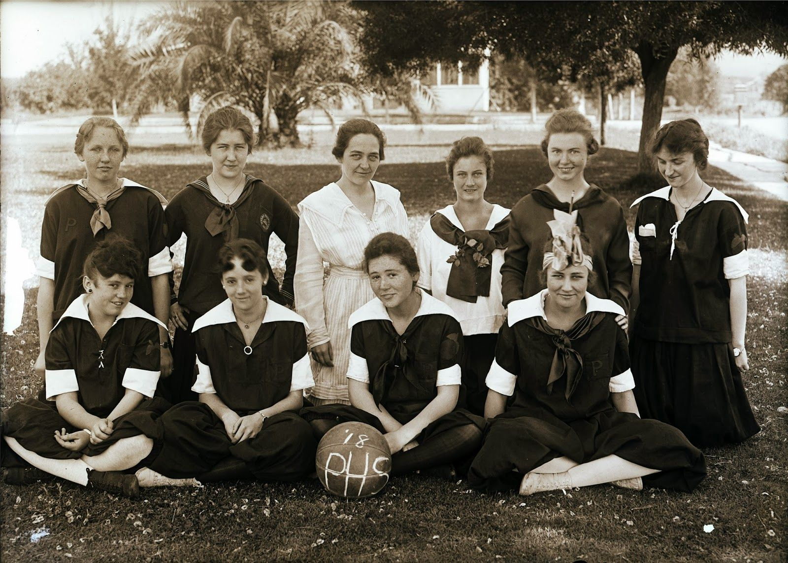 Porterville High School girls basketball team  1918  | Check this