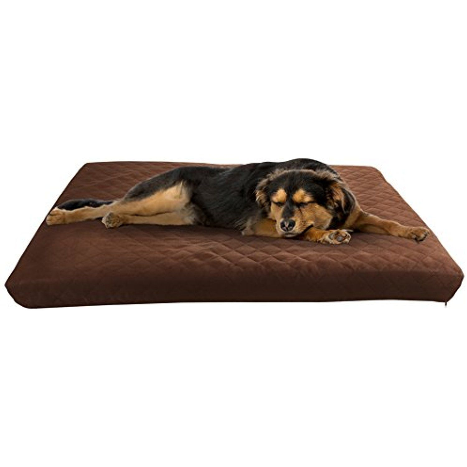 Waterproof Memory Foam Pet Bed Indoor Outdoor Dog Bed With Water Resistant Non Slip Bottom And Removeable Washable Cover  By Petmaker Brown