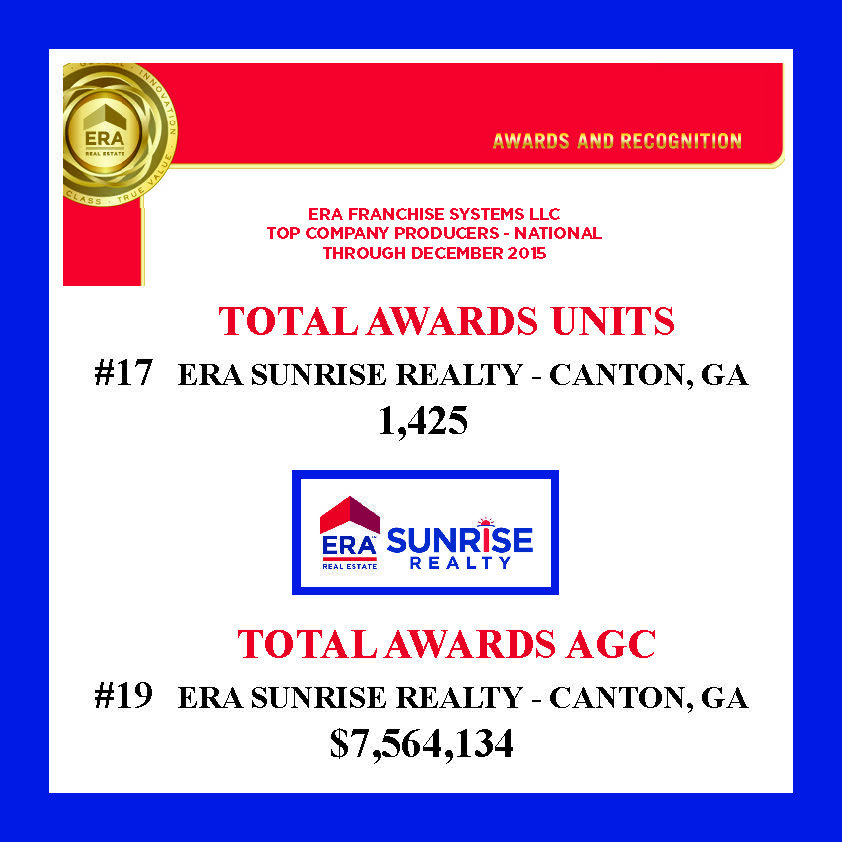 National Franchise Award Winning Year For Realty Award Winning