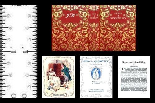 1:12 SCALE MINIATURE BOOK PRIDE AND PREJUDICE ILLUSTRATED JANE AUSTEN DOLLHOUSE