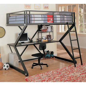 Lit mezzanine design m tal another one loft beds for kids pinterest lit mezzanine - Lit mezzanine metal ...