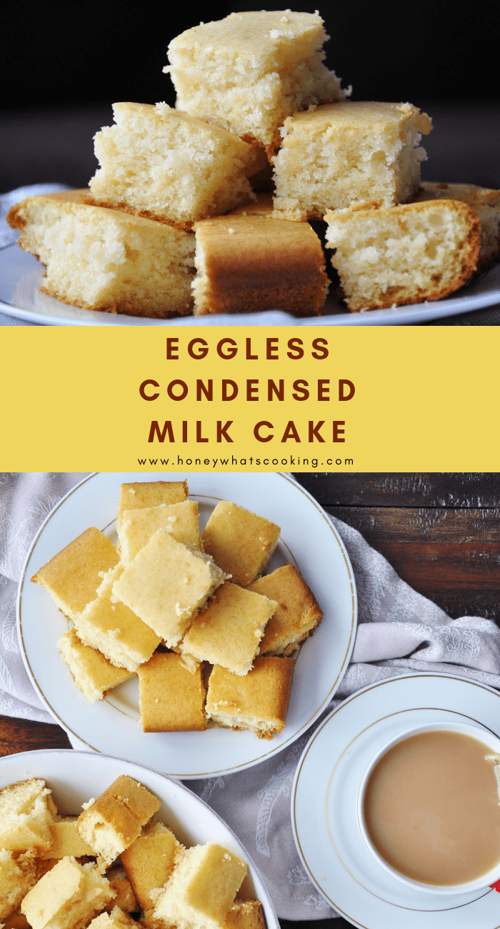 Eggless Condensed Milk Vanilla Cake Honey Whats Cooking Recipe In 2020 Condensed Milk Recipes Eggless Recipes Sweet Condensed Milk