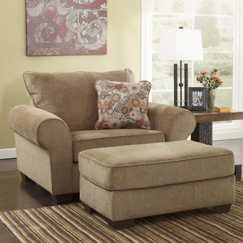 Ashley Furniture Galand Umber Chair And A Half Ottoman Baton