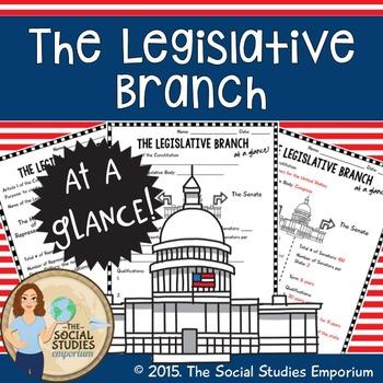 Worksheets Legislative Branch Worksheet u s government legislative branch at a glance worksheet my tpt worksheet