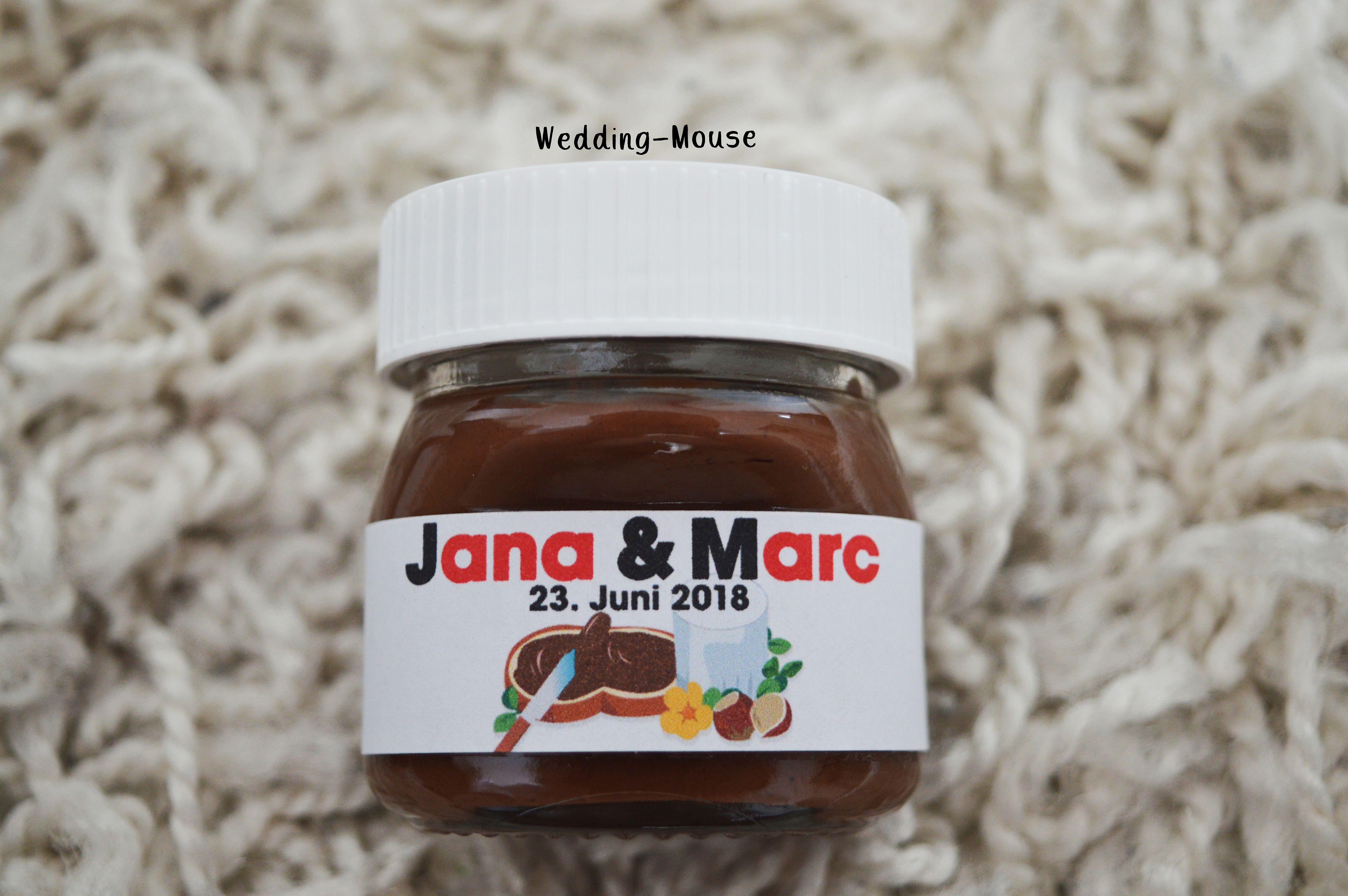 Nutella Gastgeschenk Weddingfavor Mini Nutella Hochzeit Wedding Nutella Label Nutella Guest Gifts