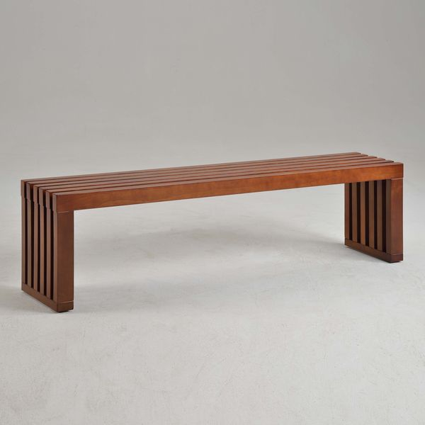 Complement The Look Of A Landing Space Or Home Entrance With This  Contemporary Style Bench Featuring A Nature Inspired Walnut Finish. A Long  And Narrow ...