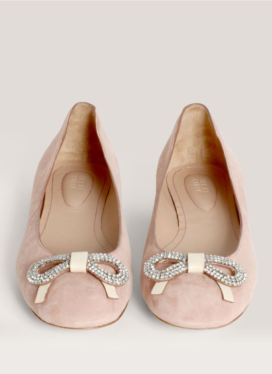 c0f039f00 bow-embellished suede ballerina flats   ballerinas   Shoes ...