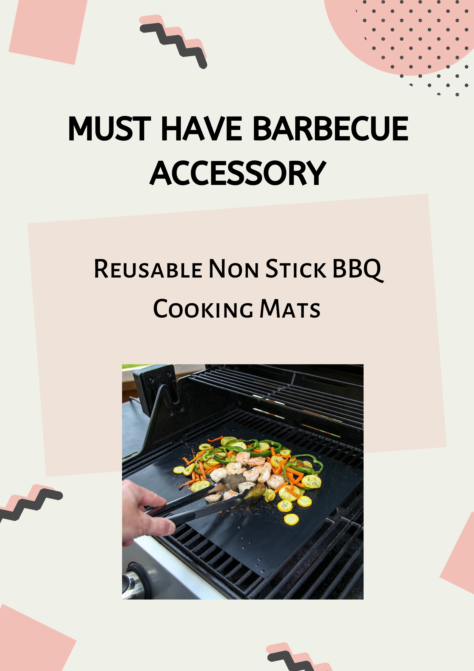 Heavy Duty Reusable Non Stick BBQ Cooking And Baking Mats