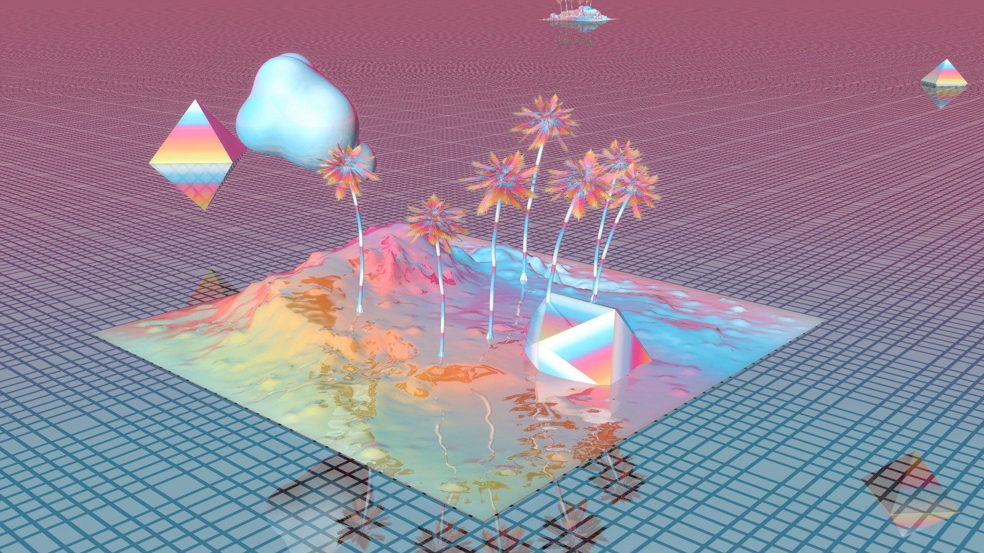 This gif has everything glitch pixel art graphic design vaporwave - Related Image Vaporwave Wallpaperdesign Arthd