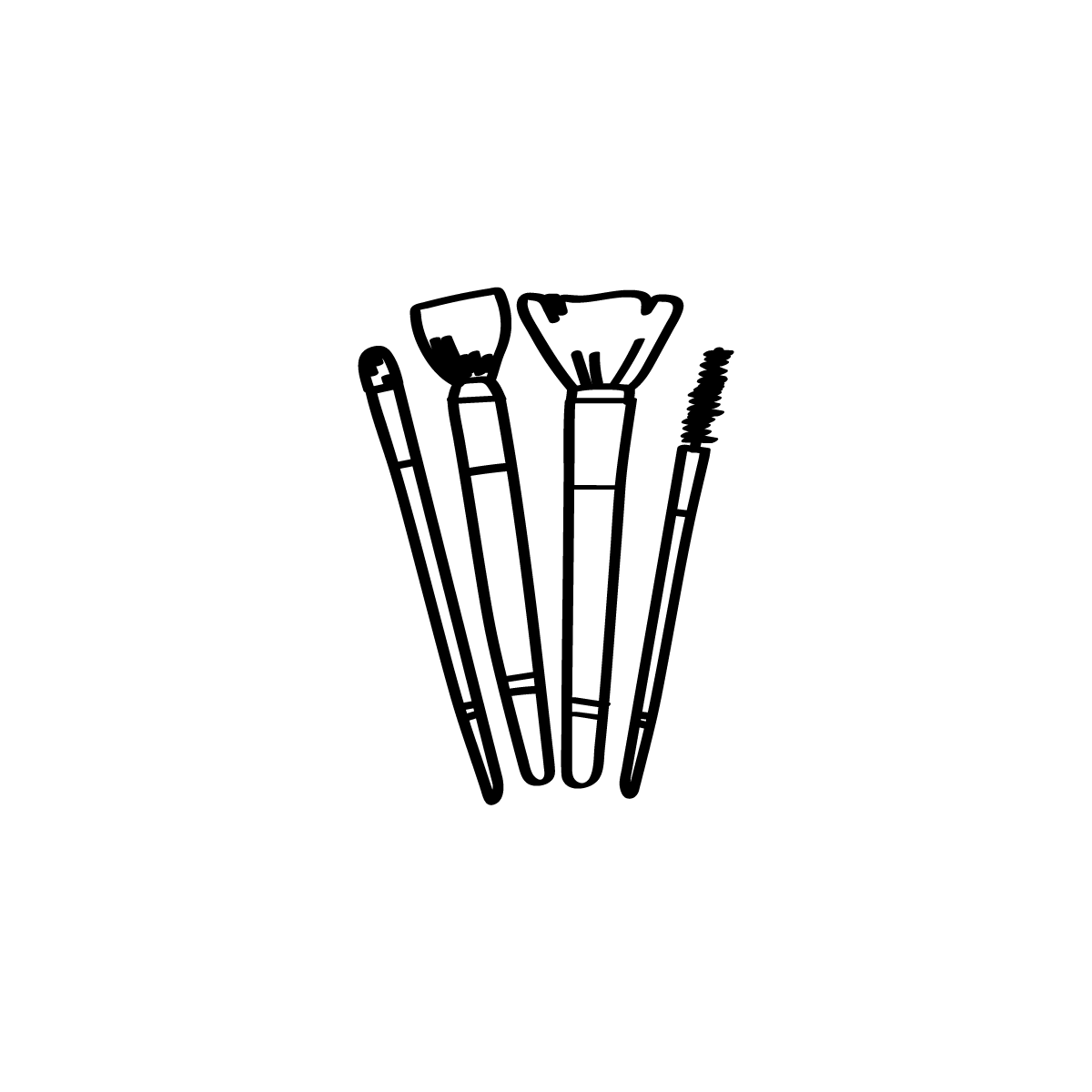 Make Up Brushes Icon Makeup Logo Shop Name Ideas Instagram Highlight Icons