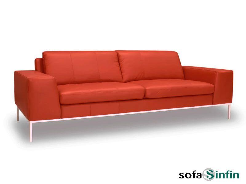 Sof moderno de 3 y 2 plazas modelo odin fabricado por for Sofas de piel modernos