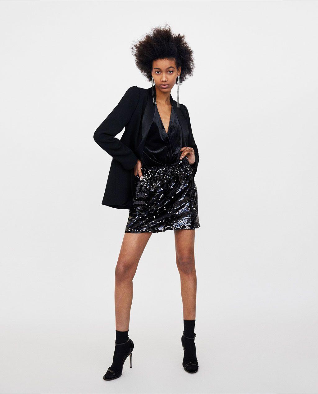 1a8808d5a Imagen 1 de FALDA MINI LENTEJUELAS de Zara | My.Style | Lentejuelas ...