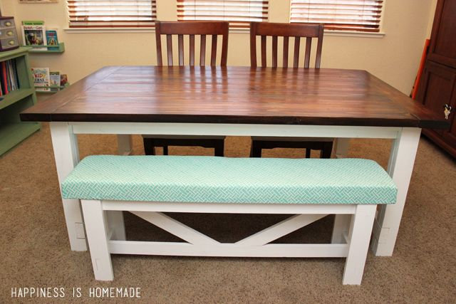 How To Build Your Own Farmhouse Table Get All The Details From Construction Painting Staining And Finishing
