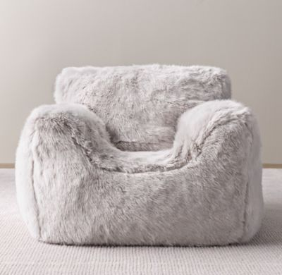 RH Babychilds Luxe Faux Fur Bean Bag Chair CoverThe Coziness Of A Club