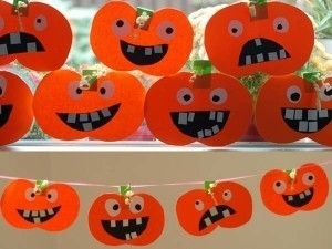guirnaldadecalabazasparadecorarhalloween Halloween Pinterest