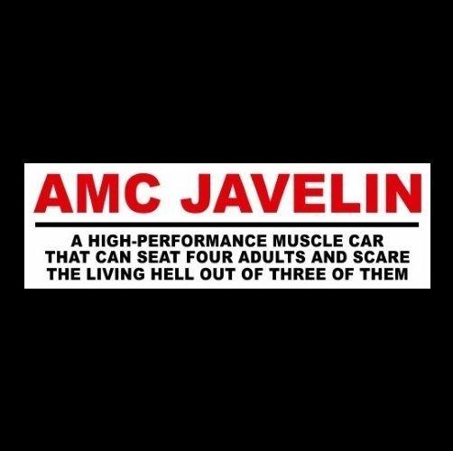 Funny Amc Javelin Decal Sticker Muscle Car 1968 1969 1971 1972 1973 Hot Rod Unbranded Amc Javelin Muscle Cars Pontiac Gto