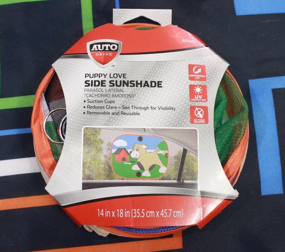 Child Sun Shade Car Window Puppy Love Side Auto Drive Kid Dog Removable See Thru #AutoDrive