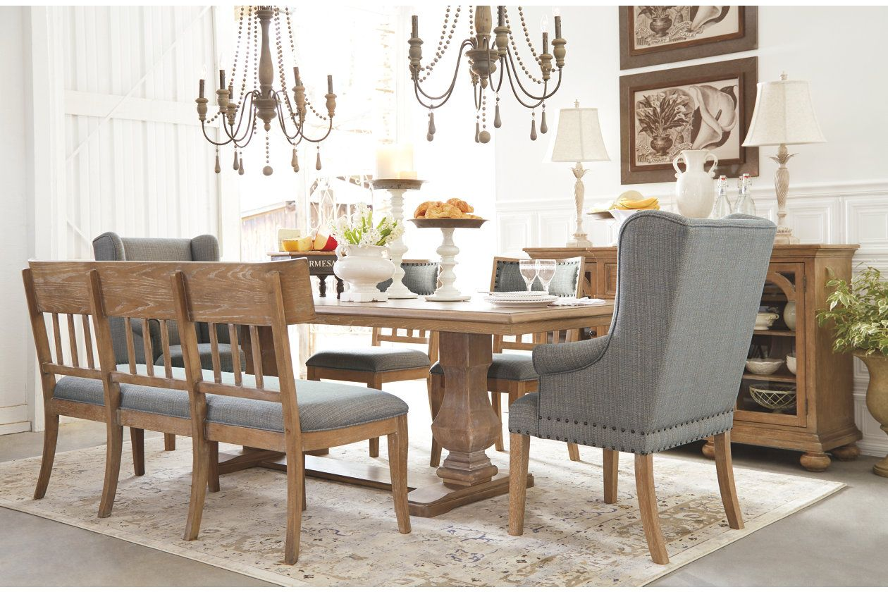Ollesburg Dining Room Bench Ashley Furniture Homestore Dining Room Bench Ashley Furniture Dining Wooden Dining Tables