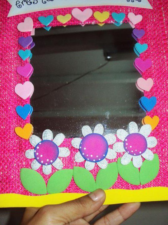 espejo decorado paneles temas para ni os de jard n
