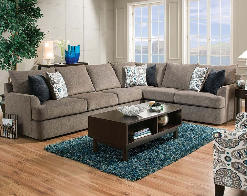Grandstand Flannel 2 Pcsectional Sofa  House Furnishings Stunning Living Room Couches 2018
