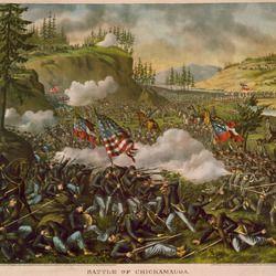 Framed US Civil War Battle Of Gettysburg Painting Real Canvas Art Print