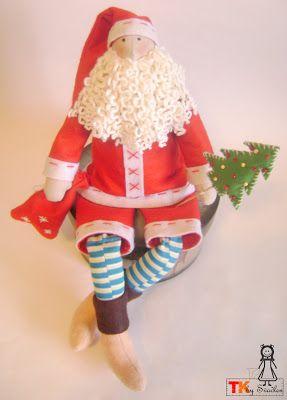 Текстильная кукла. Авторская кукла ручной работы. Купить куклу. textil-kukla: Дед мороз - тильда. Выкройка