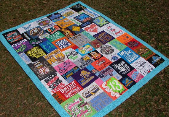 Mosaic Style T-shirt Quilt Made to Order Non-traditional ... : order t shirt quilt - Adamdwight.com