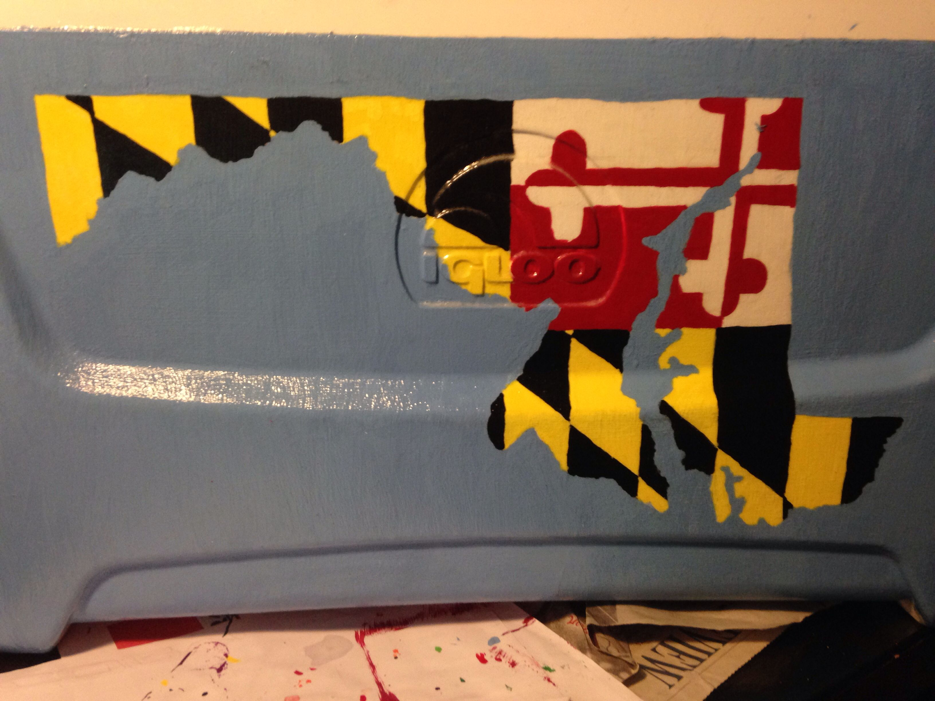 Maryland painted frat cooler coolers pinterest frat coolers maryland painted frat cooler solutioingenieria Choice Image