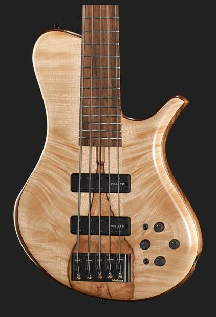 Marleaux MBass 33-5 Figured Maple RTW, colour: natural