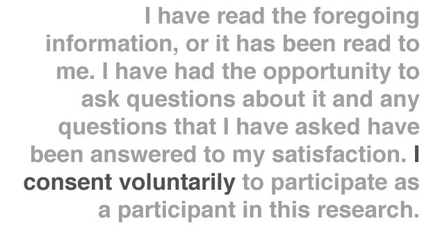 informed consent form research study - Google Search Masters