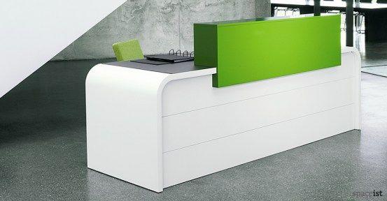 hi line curvy white reception desk