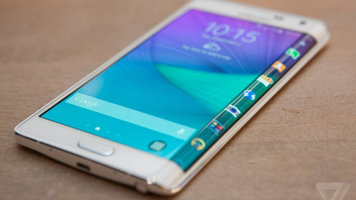 Samsung's Galaxy Note Edge has a display that curves over one side.. Wow. I mite ask get this Xmas instead of the iPhone 6