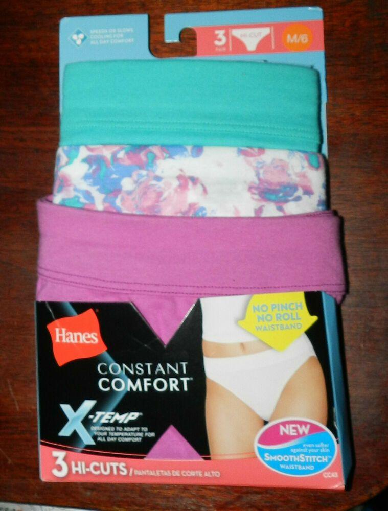 96329bf3eebc Hanes X-Temp Constant Comfort Women's Cotton Hi-cut Panties 3-Pack ...