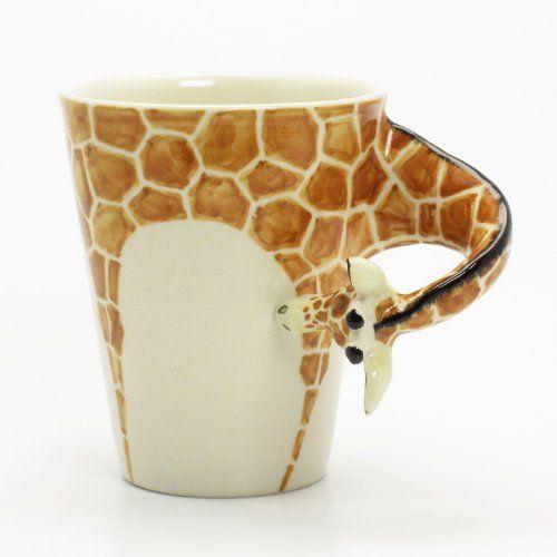 Giraffe Mug 00002 Ceramic 3D Cup Handmade Animal Lover Gifts ...