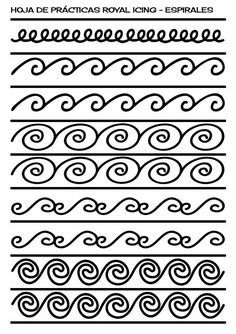 royal icing practice sheet nyomtathato pinterest royal icing