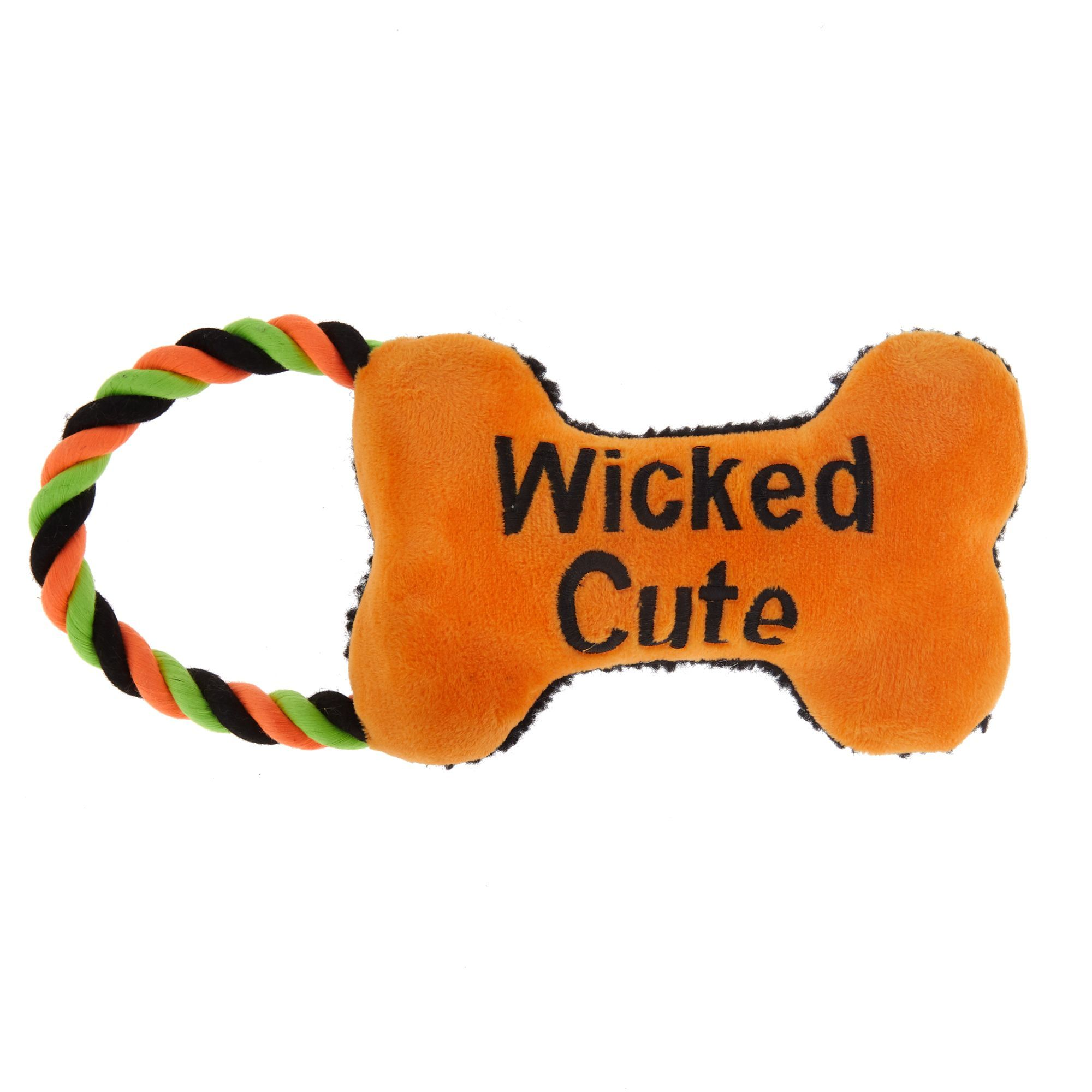 Thrills And Chills Halloween Wicked Cute Bone Dog Toy Rope