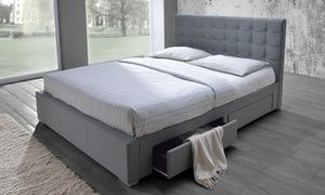 Modern Rene Upholstered Queen Size Storage Bed Queen Size