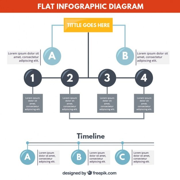 Flat infographic diagram Free Vector | proces infographic ...