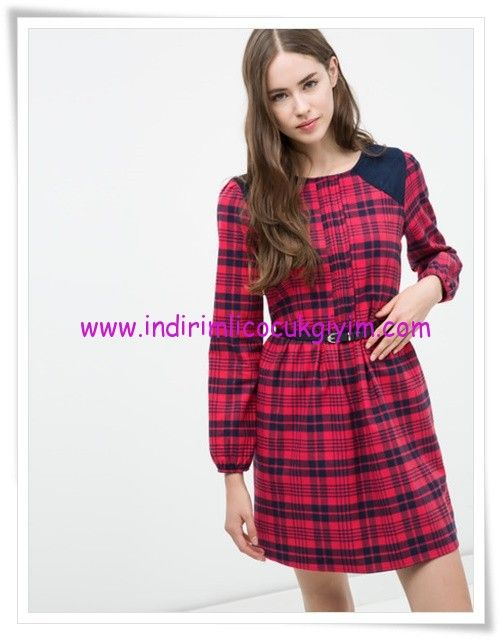 Koton Kirmizi Kareli Ekose Genc Kiz Elbise 23 Tl Moda Stilleri Elbise Elbise Modelleri