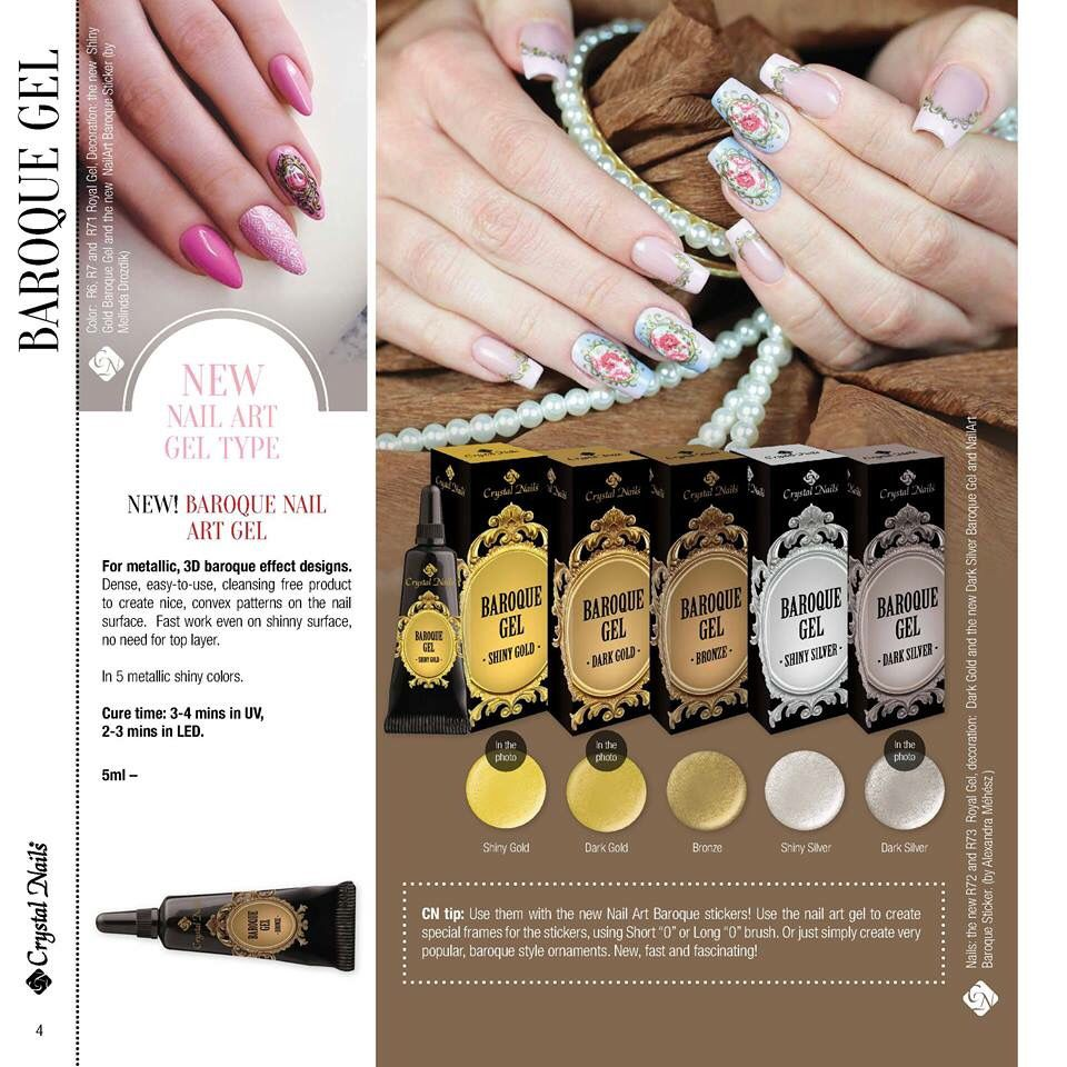 NEW PRODUCT Baroque Gel Paint Create stunning vintage look nails ...