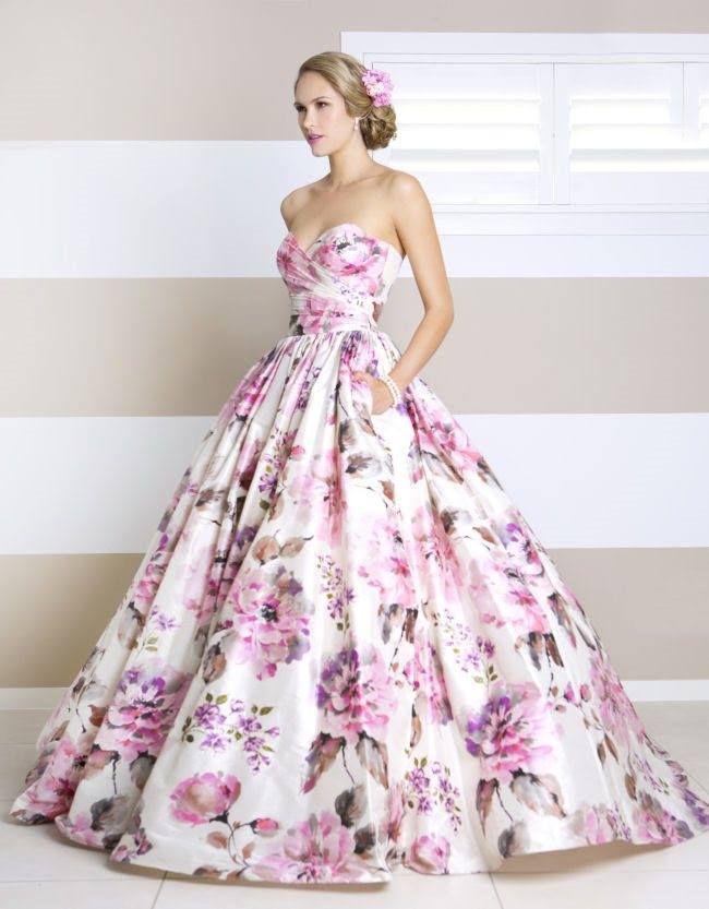 Fl Wedding Dress By Wendy Makin Unique