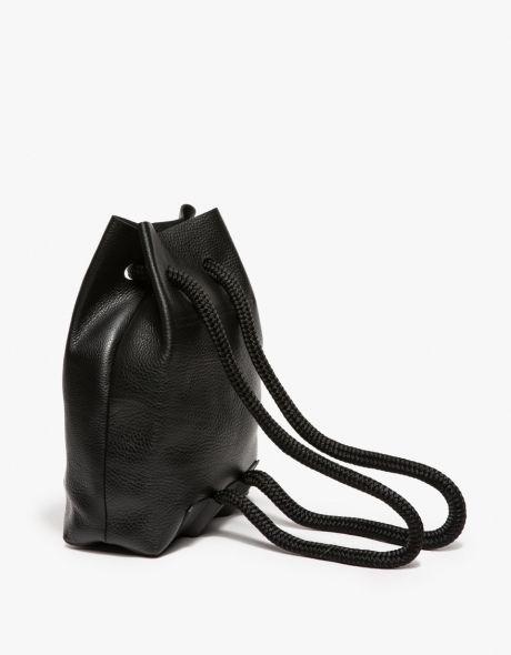 Minimal Backpack - black leather bag, chic minimalist style // The Stowe