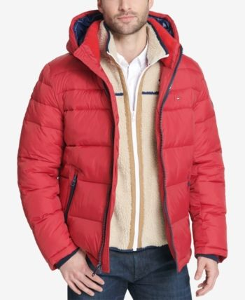 3c6d7775 Tommy Hilfiger Men's Quilted Puffer Jacket, Created for Macy's - Red XXL