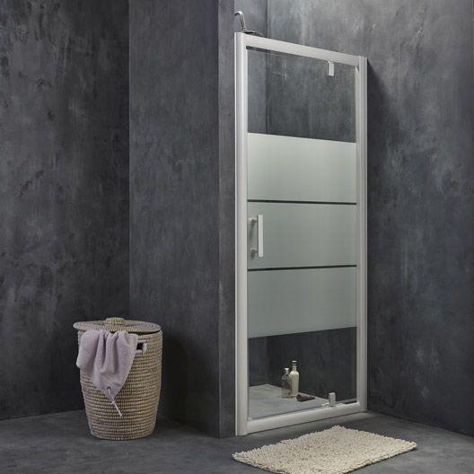 Porte de douche pivotante sensea optima 2 verre - Porte de douche 90 ...