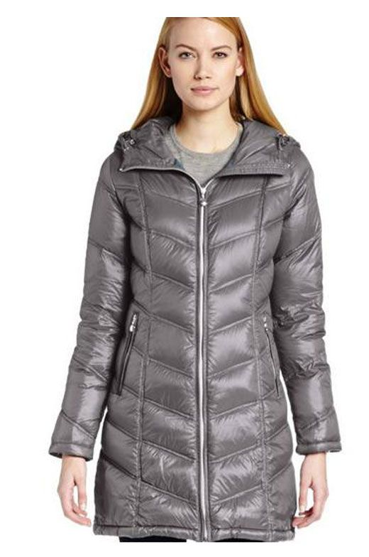 Calvin Klein Womens Winter Coats Mid Length Down with Contouring ...