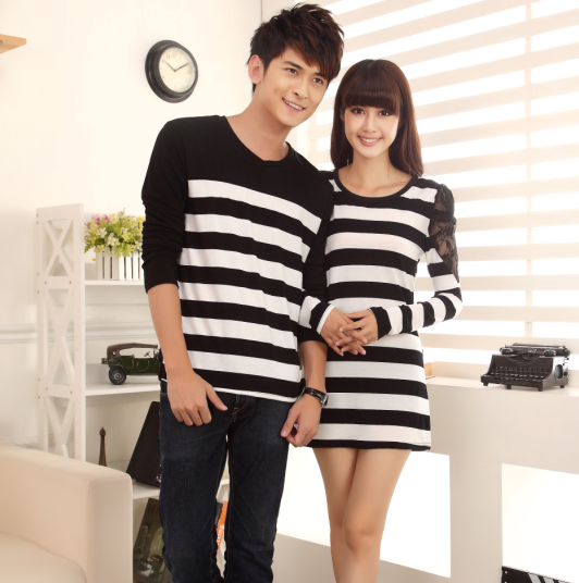 korean style 2013 new autumn couple clothing fashion