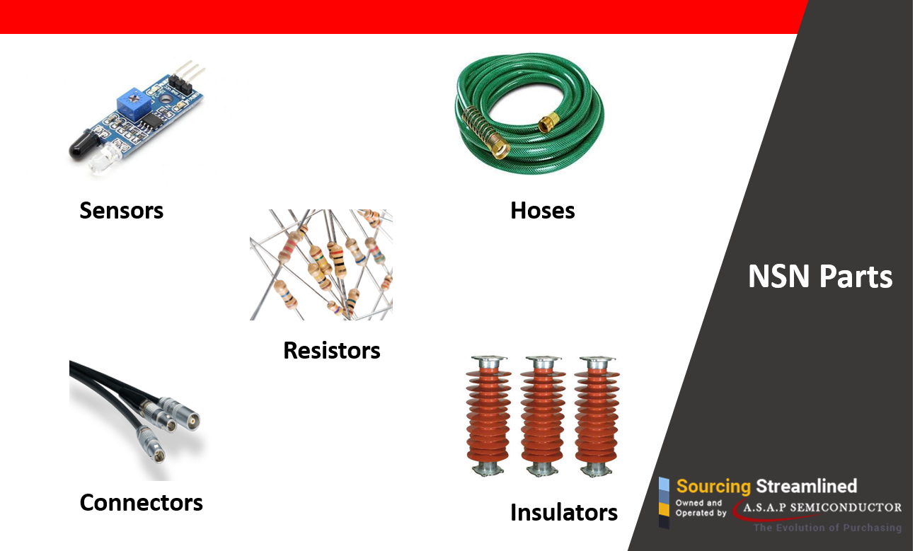 Search the NSN parts such as Insulator Hoses Resistors