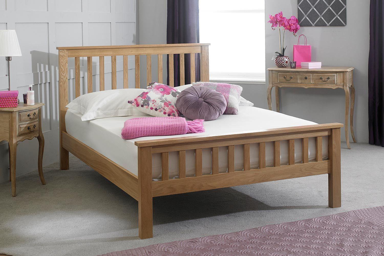 Newport Light Solid Oak Bed Frame 6ft Super King The Oak Bed Store